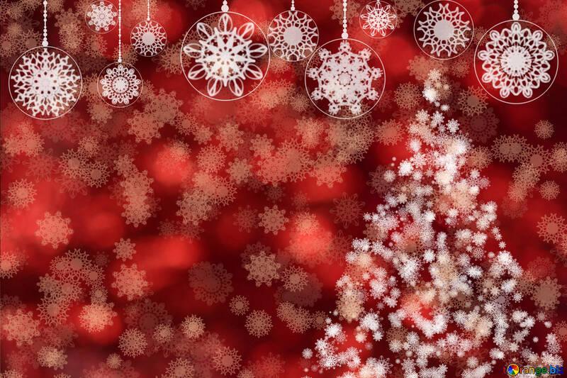 New year red background №40683