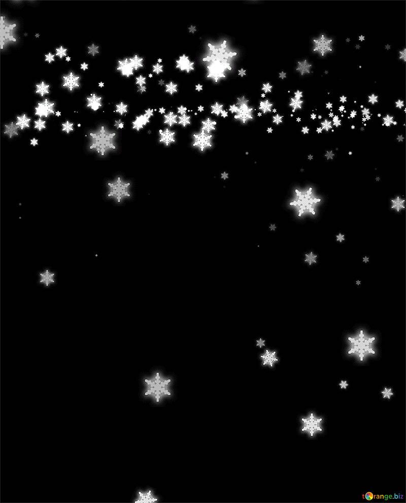 Dark background falling snowflakes №40011
