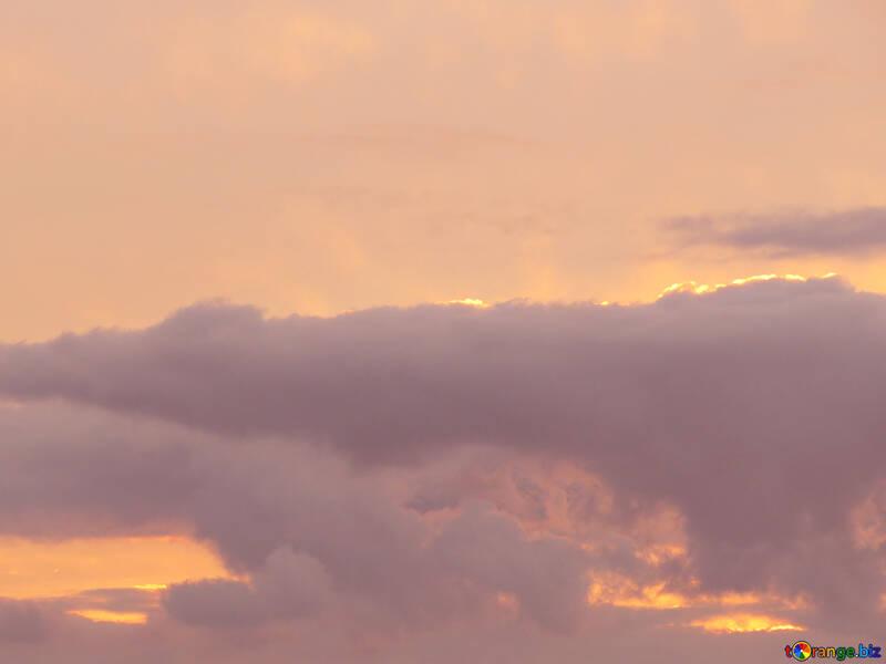 Sunset clouds sky №40997