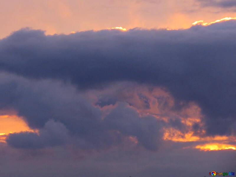 Sunset clouds №40996