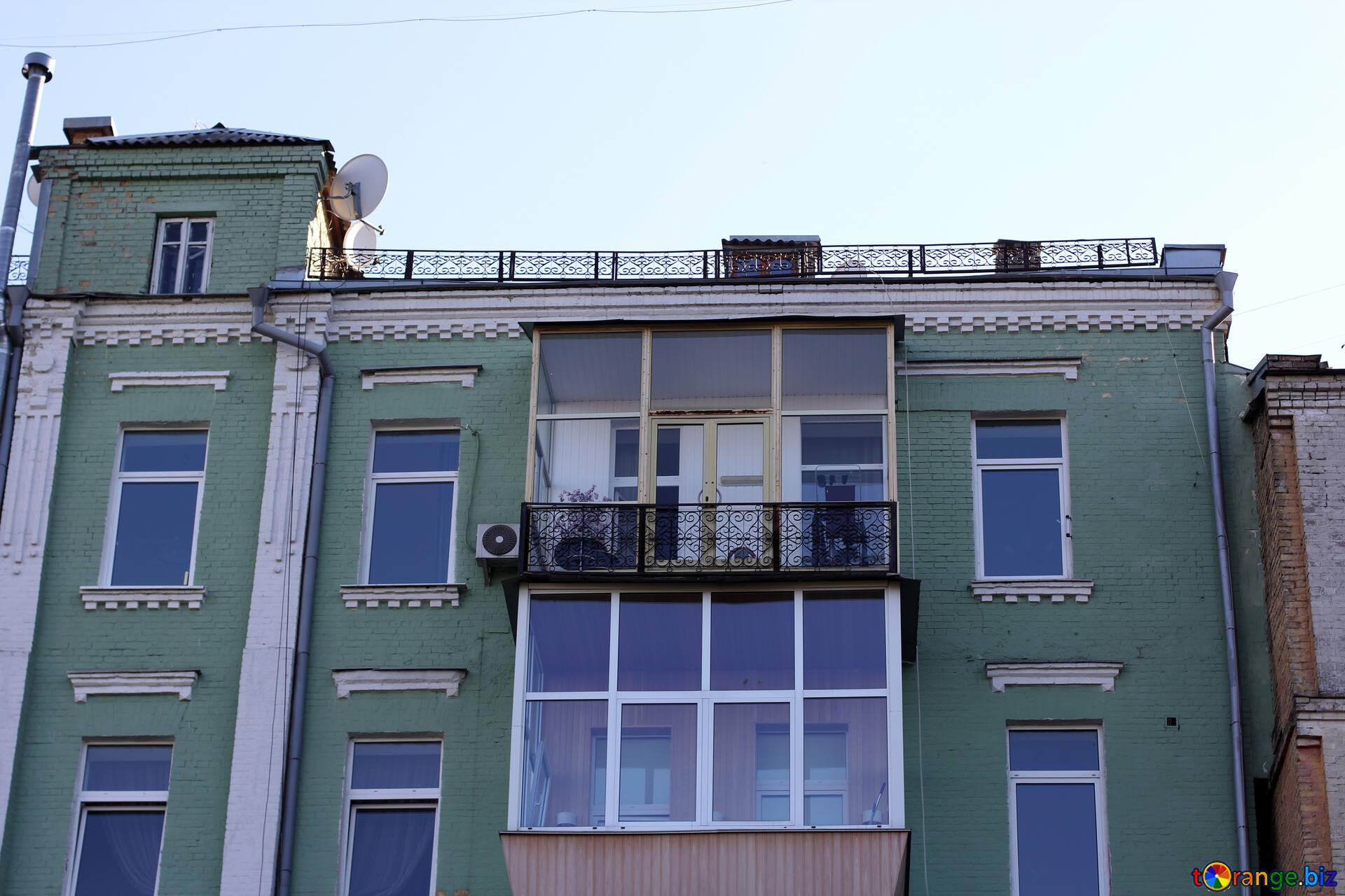 Alte Balkone Verglaste Alten Balkon Gebaude 41739