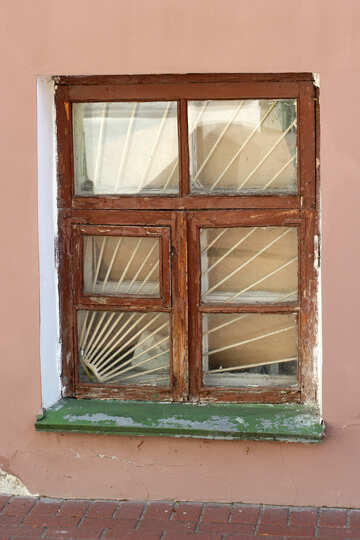 Old window with bars №41987