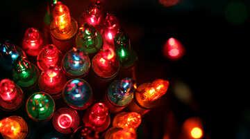 Colored light bulbs №41286