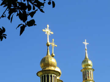 The crosses on the domes №41153