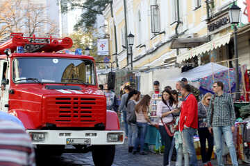 Fire truck in the city №41482