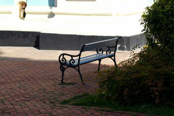 Bench in the shade of a tree №41856