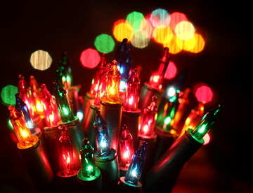 A bunch of colored light bulbs №41297