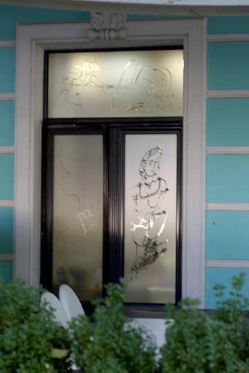 Рисунок на матовом стекле №41672