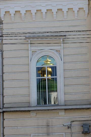 Reflection of church window  №41813
