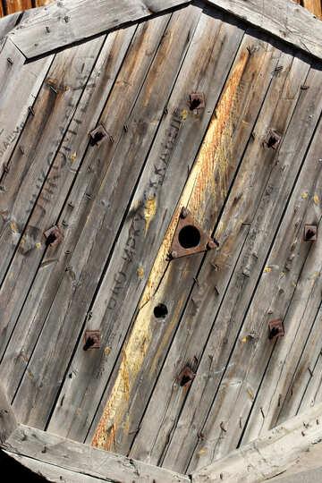 Texture of wooden reels №41911