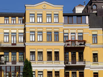 Yellow house facade texture №41126