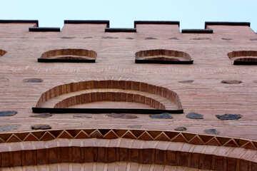 Wall of brick pattern №41638