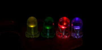 LEDs on a dark background №41394