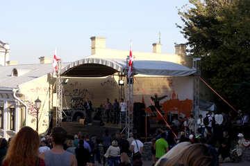 Leistung der Straßenmusiker №41575