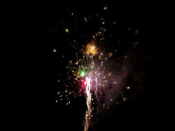 Bright fireworks in the night sky №41335