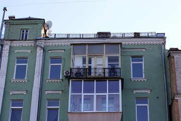 Glazed old balcony №41739