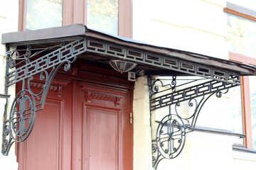 The metal canopy over the door №41998