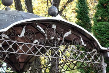 Wrought iron gazebo №41980