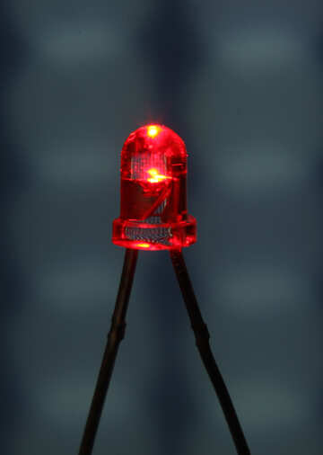 Transparent red LED №41401