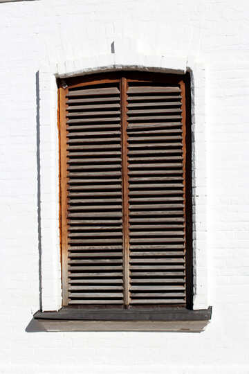 Wooden shutters on the window blinds №41950