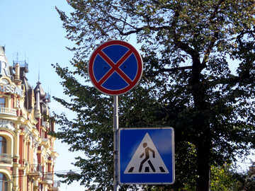 Stop sign is forbidden transition №41663