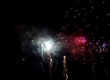 Explosion of fireworks in the sky №41337