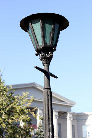 Old street lamp round №41794