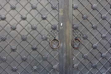 Древние железные ворота текстура №41944