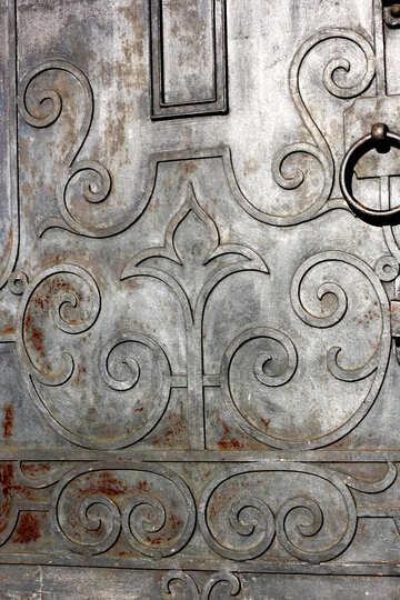 Das Muster auf der Eisentür №41431