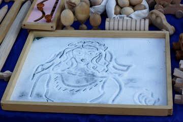 Zeichnung auf dem Sand №41570