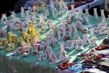 Ukrainian decorative candlesticks №41562