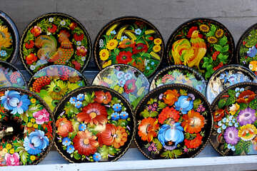 Ukrainian Decorative plates made of wood №41510