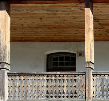 Balcone in legno №41909
