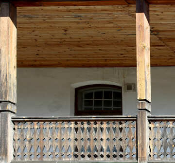 Wooden balcony №41909