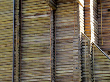Ancient wooden wall №41020