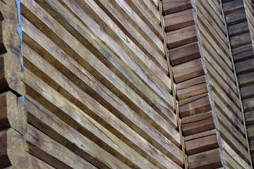 Golden Gate fragment of wooden wall №41628