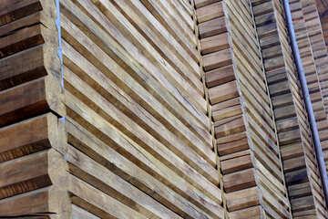 Golden Gate fragment of wooden wall №41630
