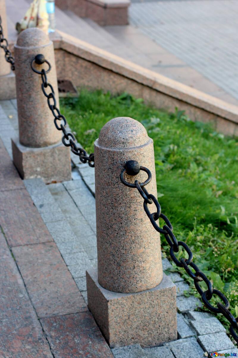 Eisenkette zaun von der kette gesetz und recht № 41644