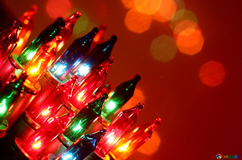 Фон рождественские огни №41290