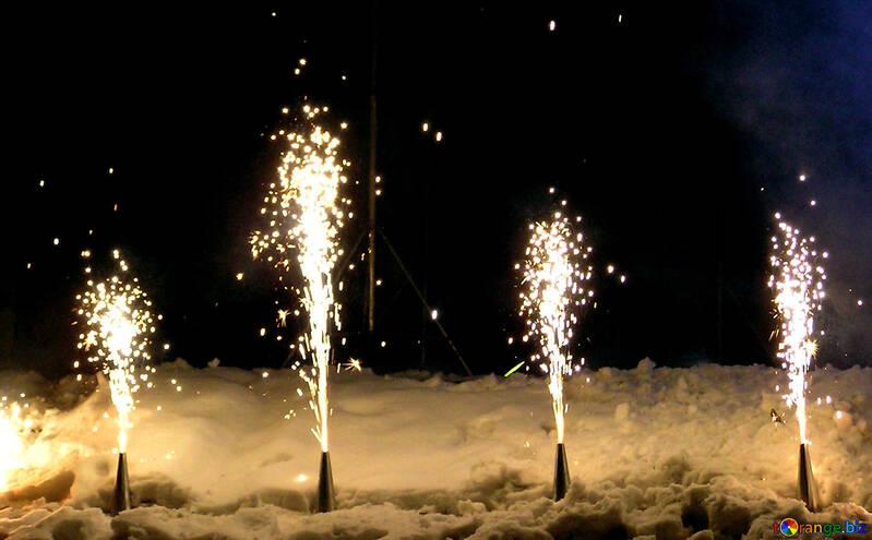 Ground fireworks volcano №41341
