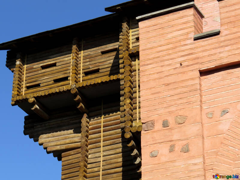 Фрагмент древней городской стены Киев №41009