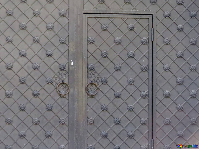 The texture of wrought-iron gates №41189