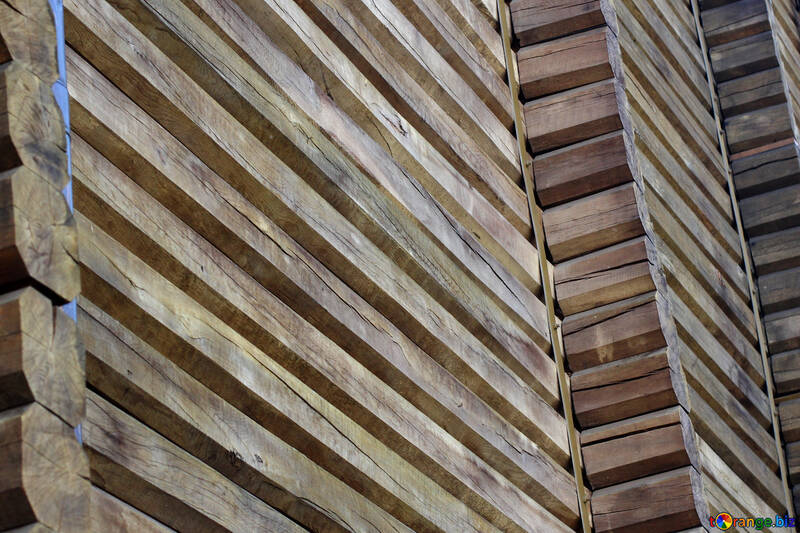 Золотые Ворота фрагмент деревянной стены №41628