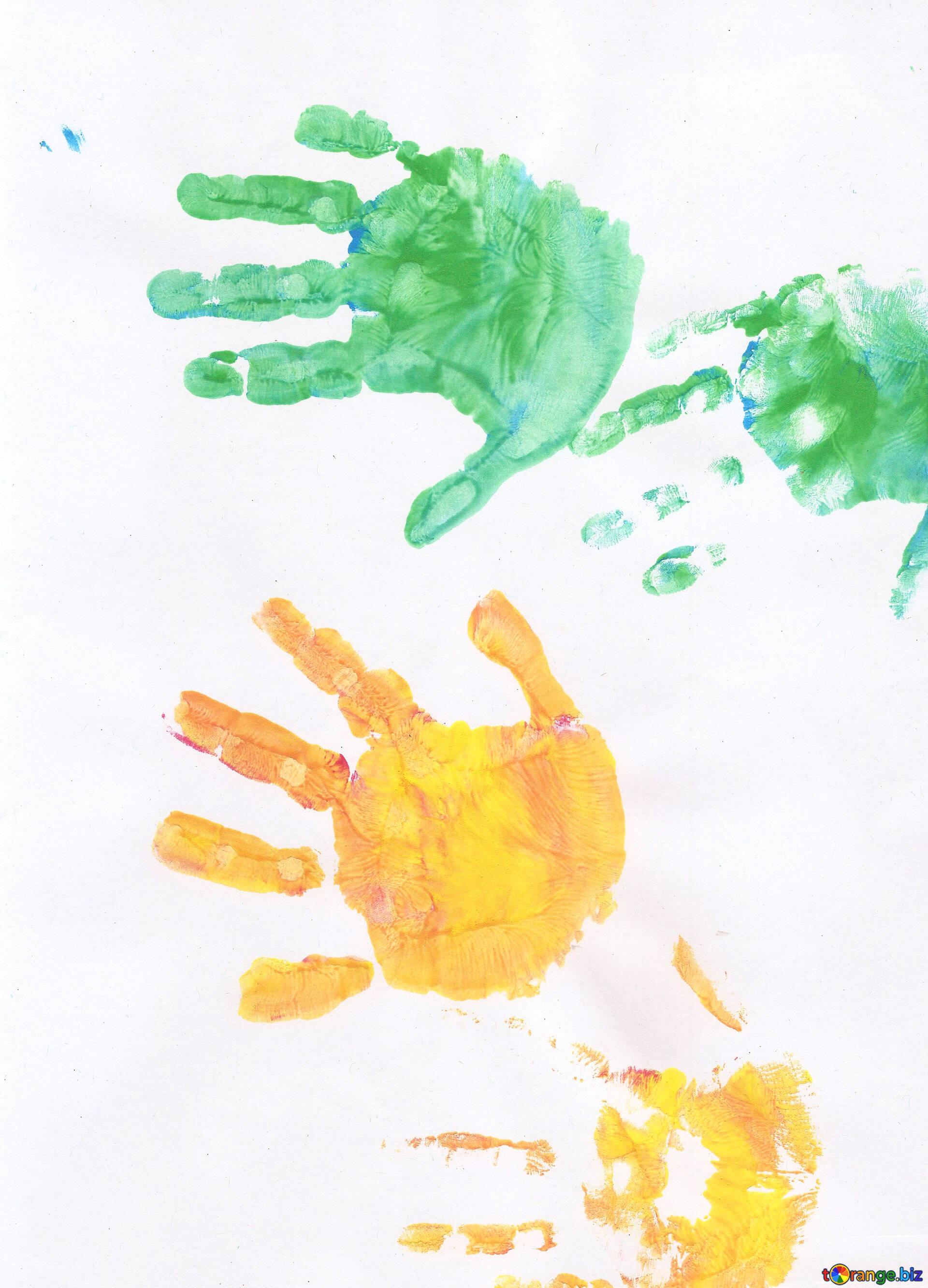 Desenhos De Pessoas Das Criancas Maos Coloridas Desenho Das