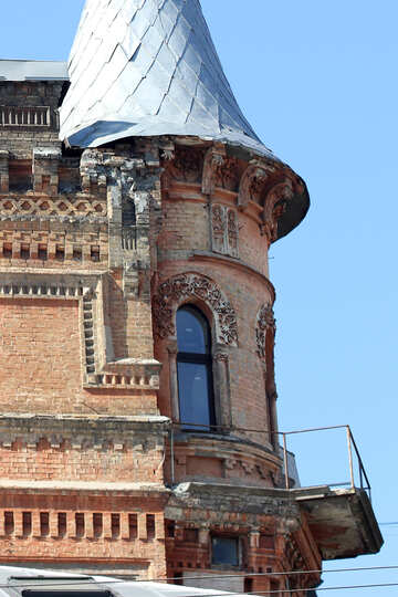 Dilapidated building with tower №42004