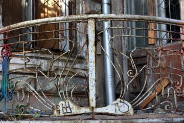 Vintage balcony railings
