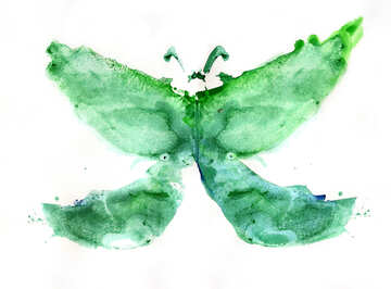 Butterfly children`s drawing №42685