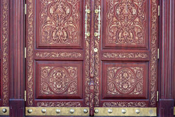 The door is decorated with a carved pattern №42049