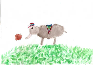 Children`s drawing elephant №42714