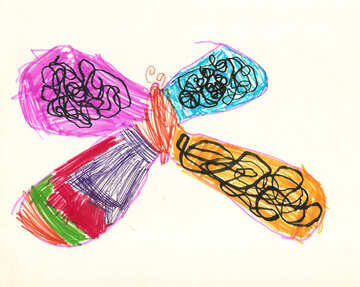 Children`s drawing butterfly №42743